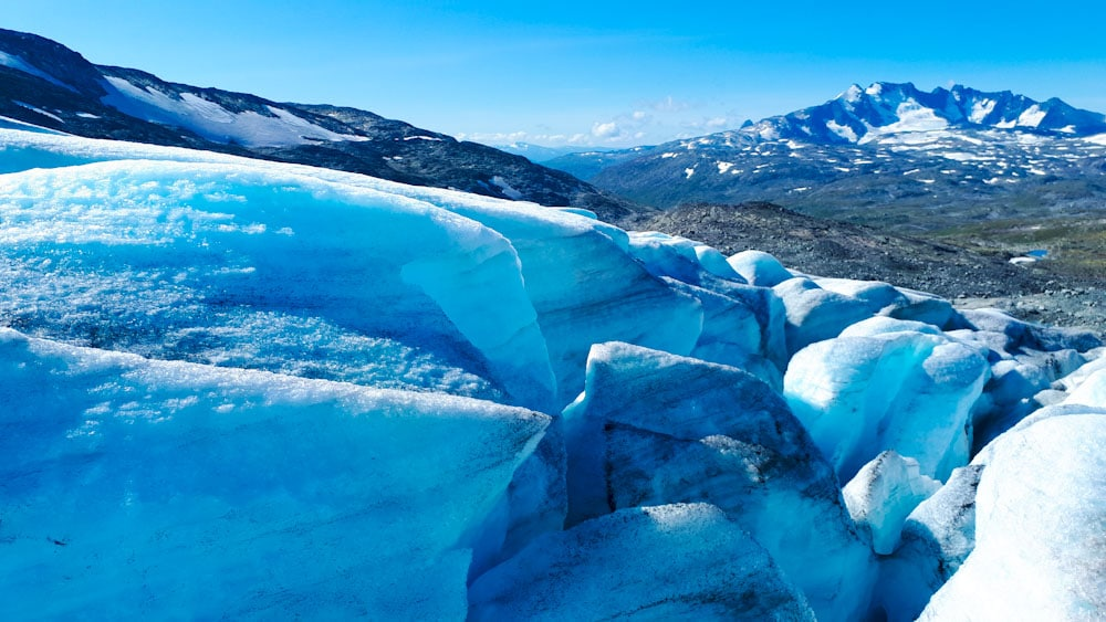 Gletscher im Jotunheimen Nationalpark