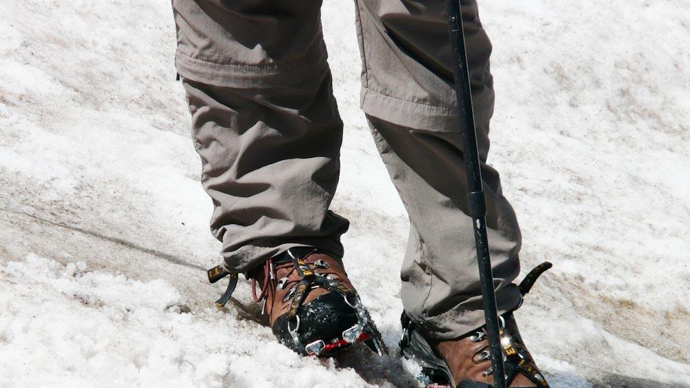Wanderhose bei Einsatz im Schnee