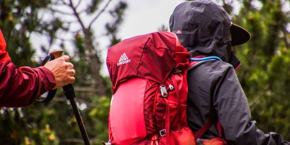 Rucksack, groß genug für Reisedecke