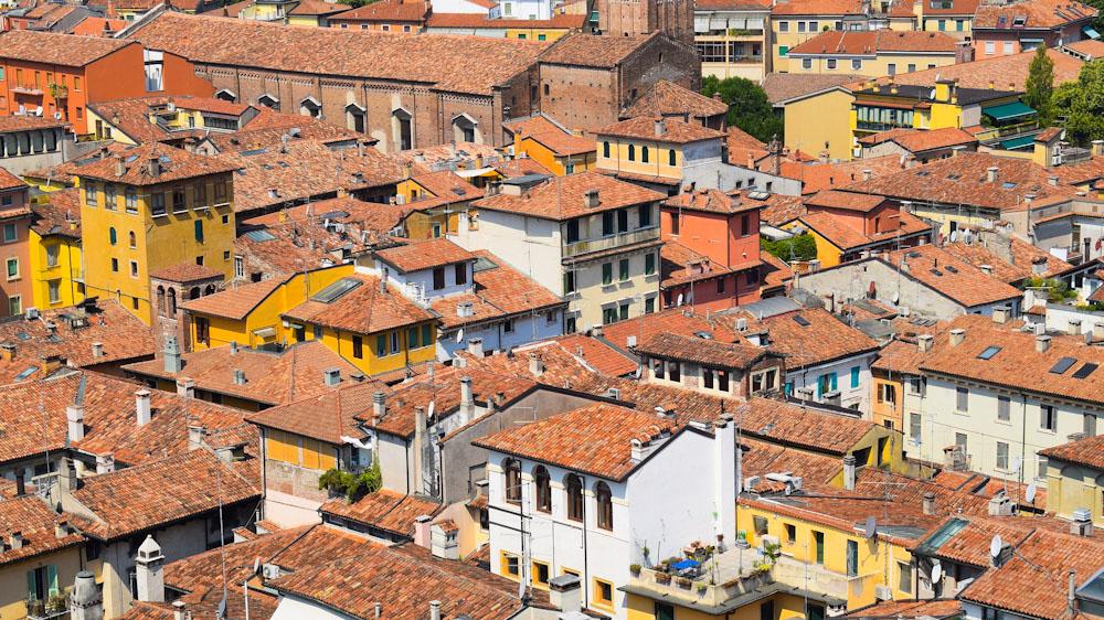 Aussicht auf die Altstadt von Verona