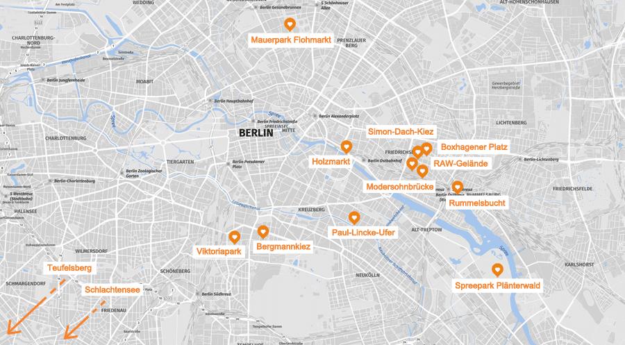Infografik: Berlin Geheimtipps Karte