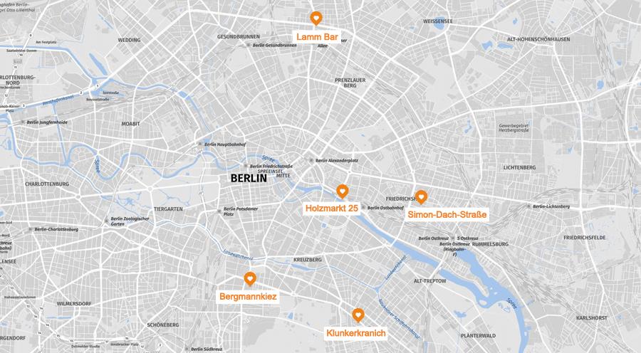 Infografik: Berlin Kneipen und Bars, Geheimtipps Karte
