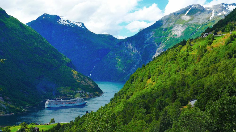 Geirangerfjord in Norwegen, Top Highlight