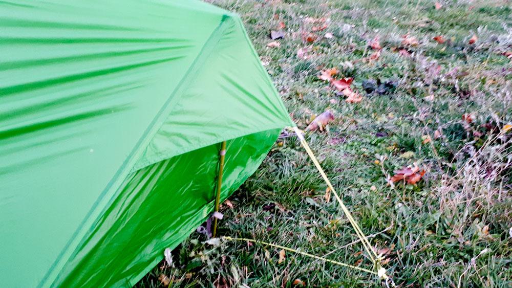 Ultraleichtes Zelt von Vaude: der Aufbau