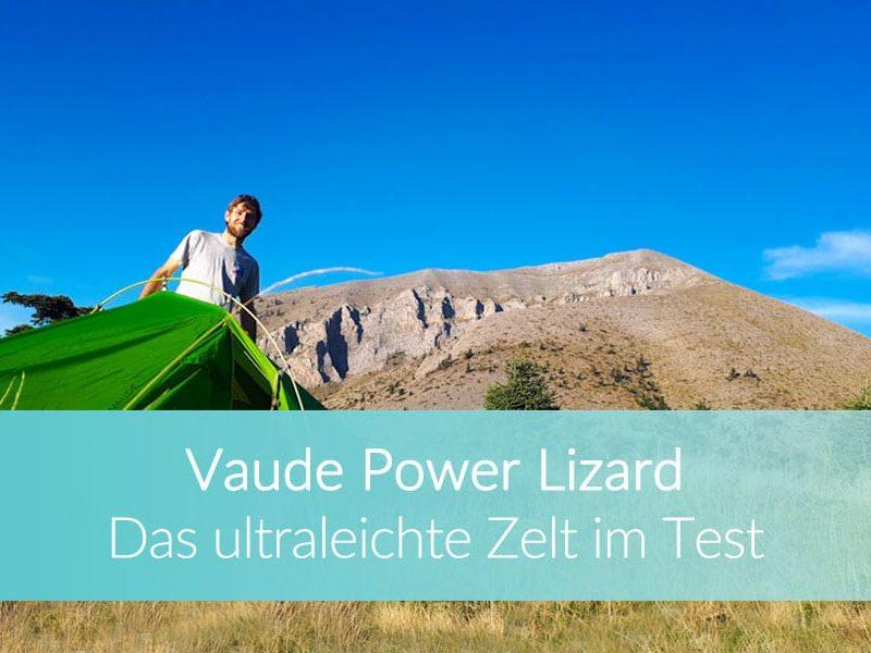 Vaude Power Lizard SUP: Ultraleichtes Zelt, Reiseblog