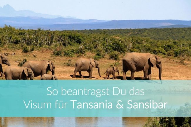 Visum Tansania und Sansibar online beantragen