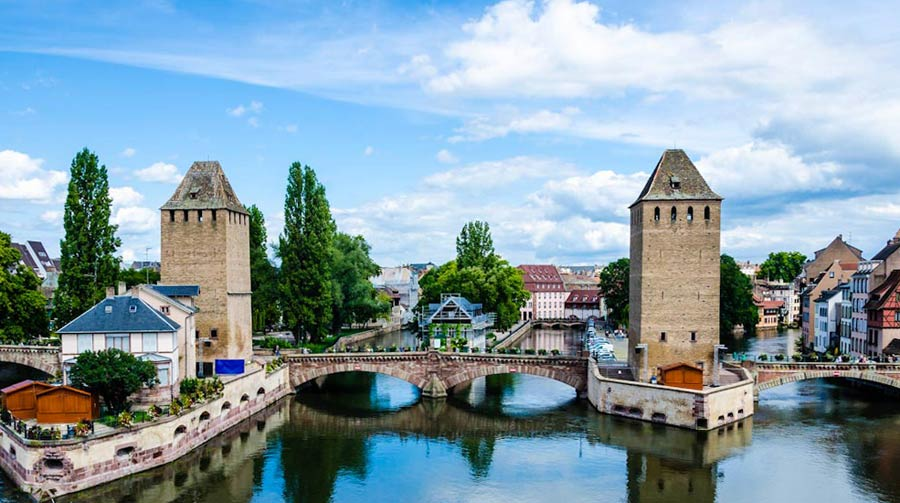 Straßburg Sehenswürdigkeiten: Ponts couverts, Brücke
