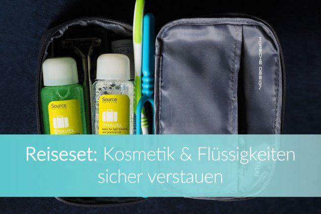 Reiseset: Kosmetiktasche, Reisebeutel