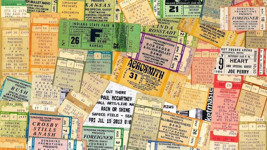Reisetagebuch: Tickets, Erinnerungen