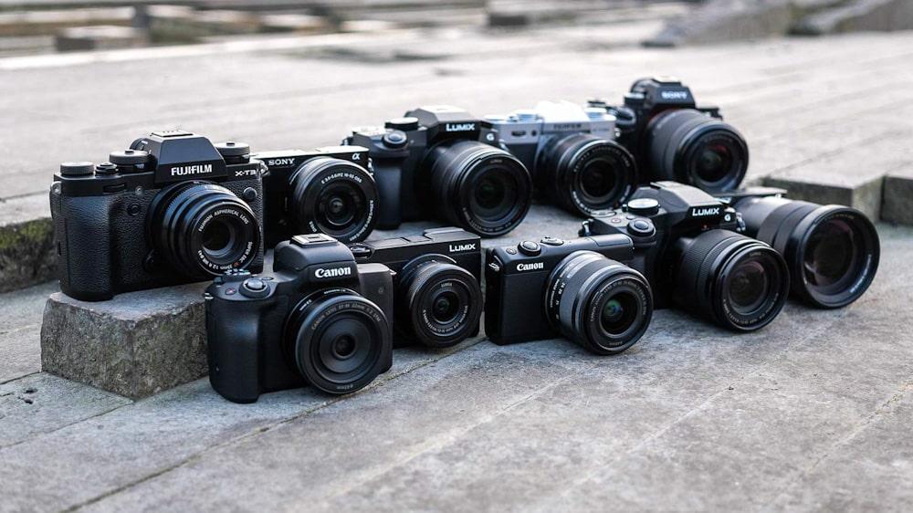 Digitalkamera Vergleich: Auswahl verschiedener Kameras