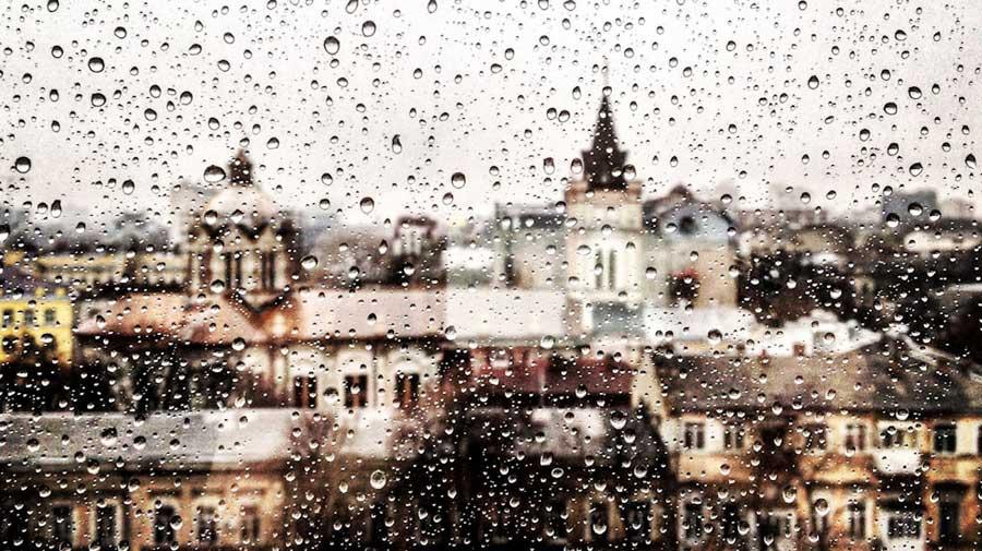 Reisetagebuch: Gedanken aufschreiben, Regen
