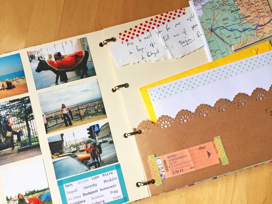 Reisetagebuch: Souvenir von Land, Stadt und Menschen