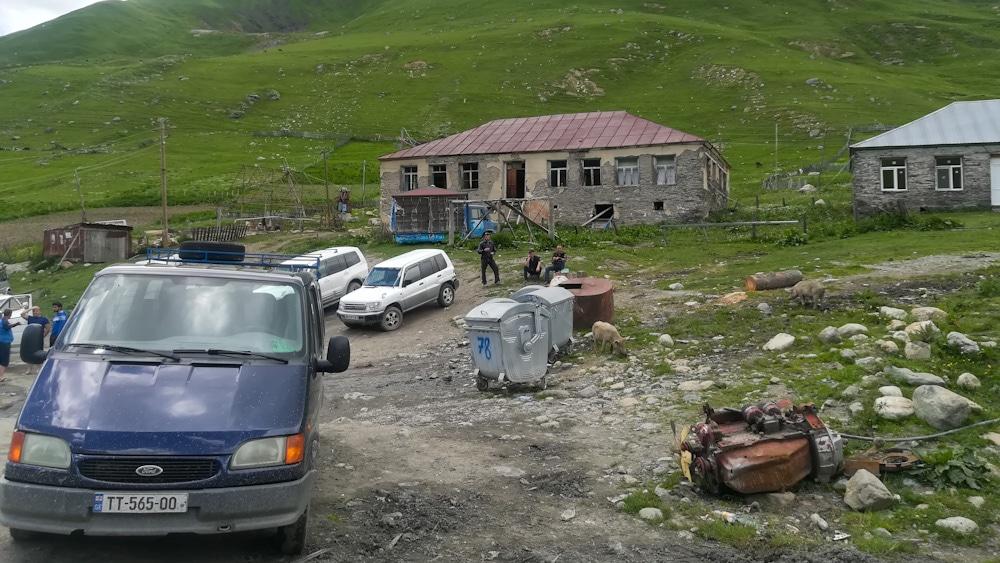 Busbahnhof in Ushguli