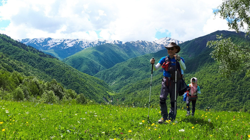 Wanderer von Mestia nach Ushguli