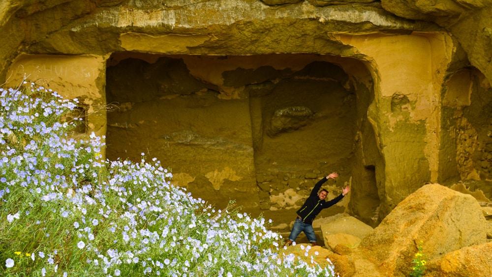 Höhle im Klosterkomplex Dawit Garedscha