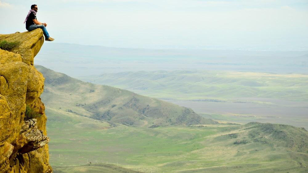 Aussicht vom Berg Udabno am Dawit Garedscha Kloster