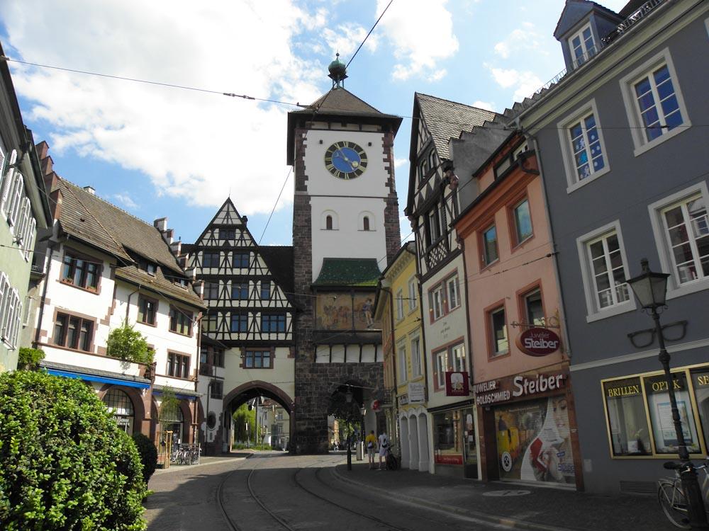Freiburgs Stadttor, das Schwabentor