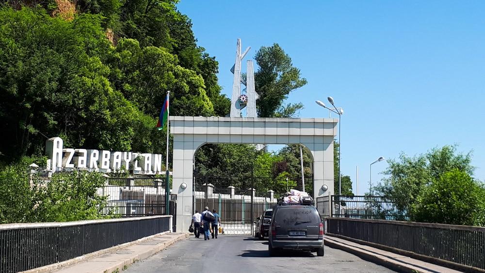 Grenze zwischen Kachetien und Aserbaidschan