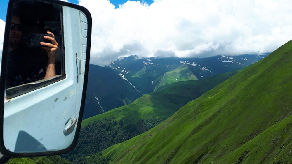 Blick während der Fahrt auf dem Abano Pass nach Tuschetien