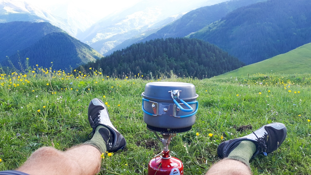 Camping in Georgien mit Gaskocher