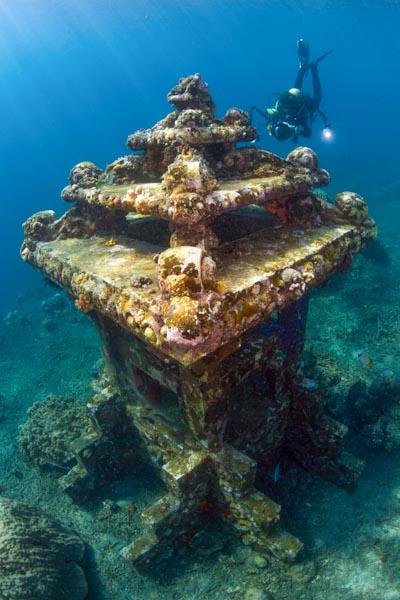 Japanisches Schiffswrack bei Amed, Bali