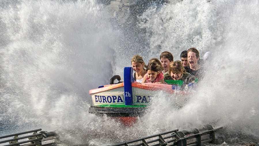 Wasserbahn im Europa-Park in Rust