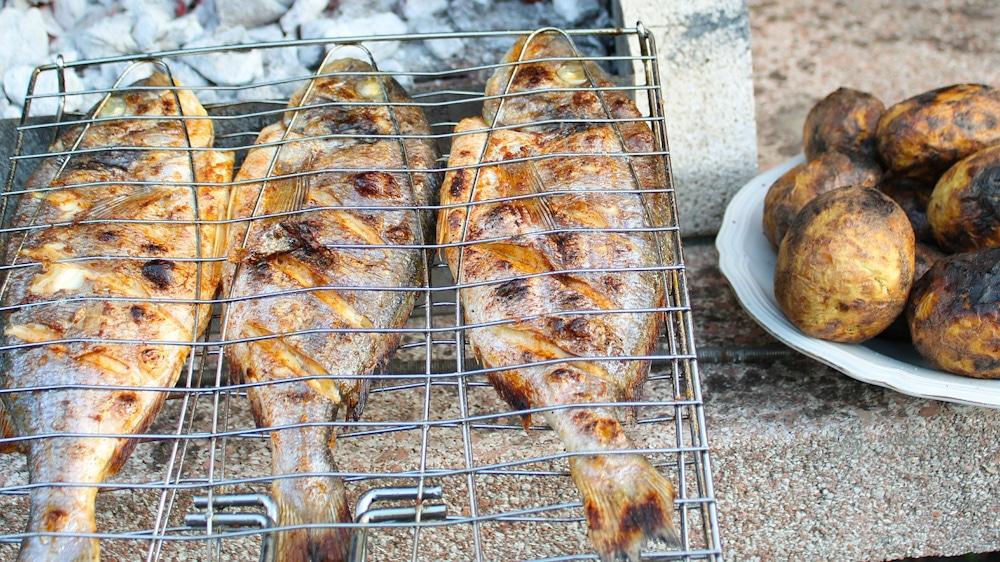 Fisch essen am Sewansee