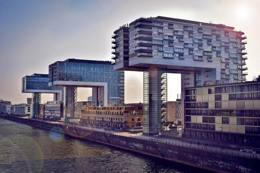 Kranhäuser am Rheinauhafen, Köln-Sehenswürdigkeit