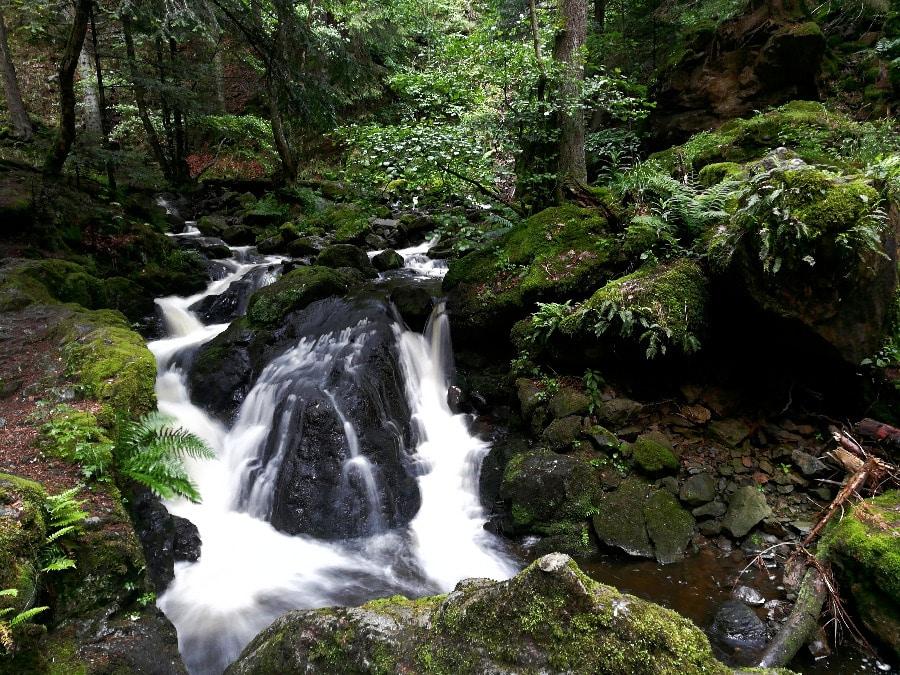 Wunderschöne Wasserfälle entlang der Ravennaschlucht