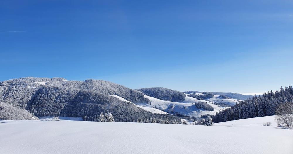 Aussicht über das Bernauer Hochtal im Schwarzwald