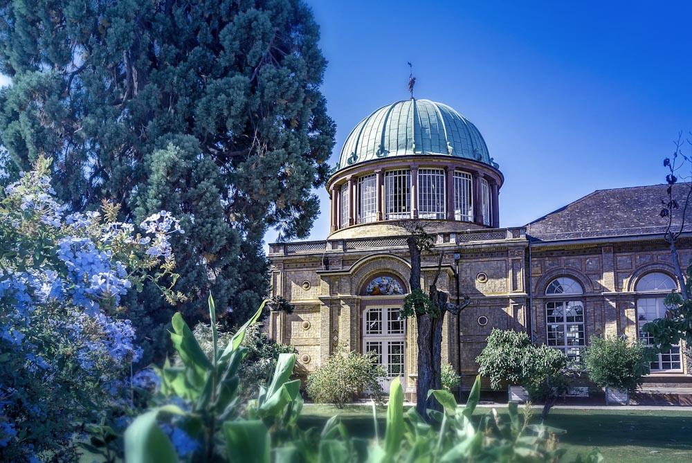 Botanischer Garten Kuppelgebäude im Hintergrund