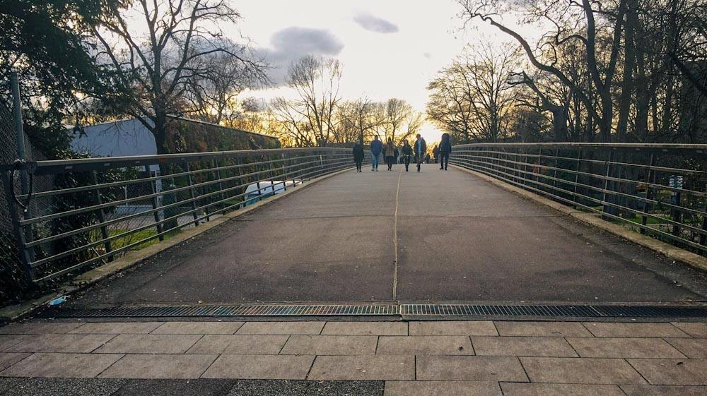 Brücke über den Karlsruher Zoo