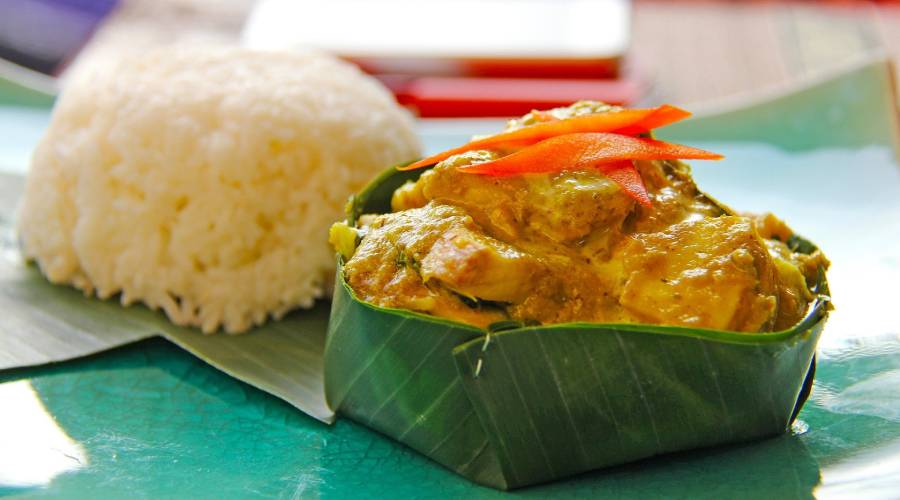 Die Speise Amok aus Kambodscha probieren