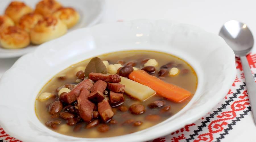Sehr leckere Bohnensuppe Grah aus Kroatien