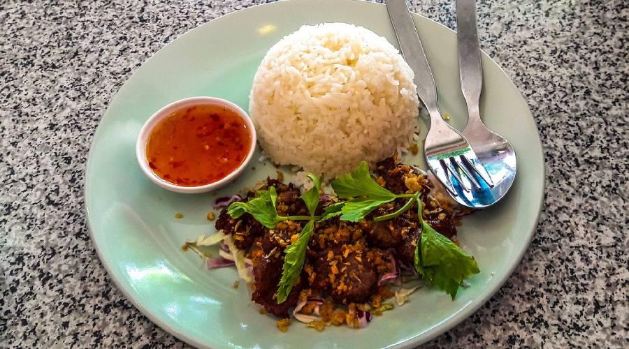 Leckere Spezialität Jeow aus Laos