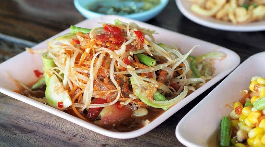 Leckeres Som Tam aus Laos