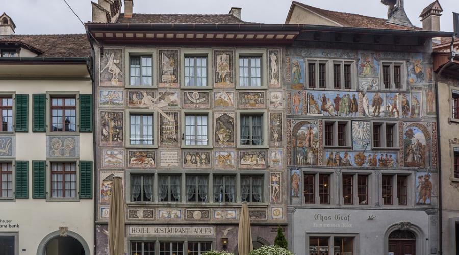 Die beliebte stadt Stein am Rhein