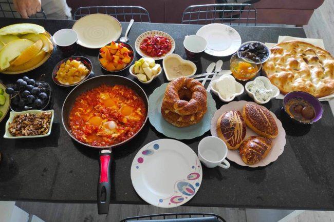 Traditionelles Frühstück in der Türkei