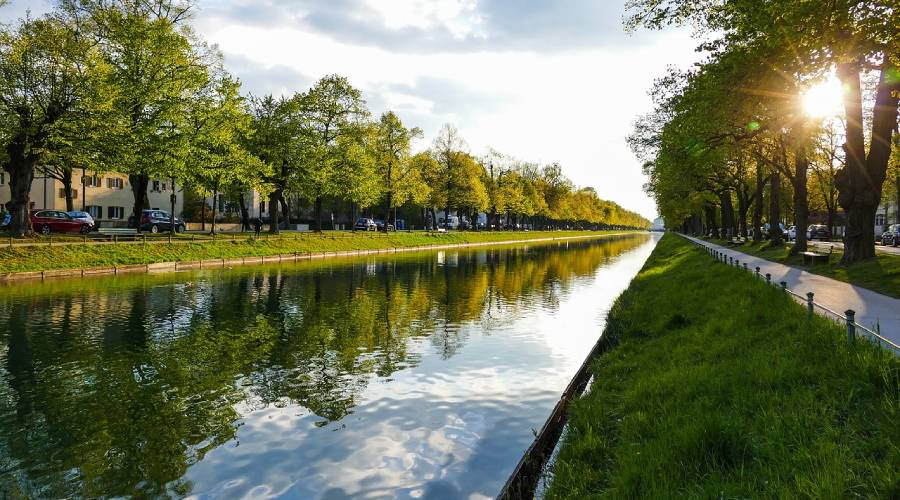 Radtour: Entlang von Würm und Nymphenburger Kanal bis Olympiapark