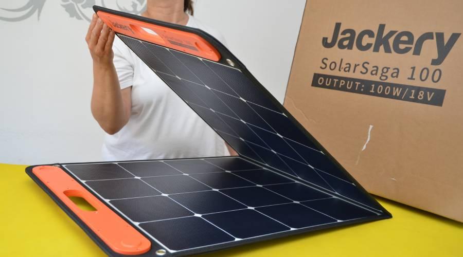 Jackery faltbares Solarpanel SolarSaga 100 Inbetriebnahme im Test