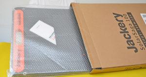 Lieferung des Solarpanels SolarSaga 100 von Jackery